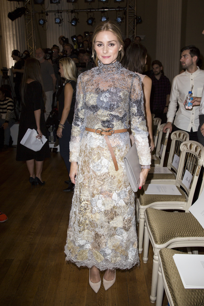 美國名媛奧莉維亞·帕勒莫(Olivia Palermo)出席Marchesa秀。(Ben A. Pruchnie/Getty Images)Tristan Fewings/Getty Images)
