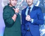 林佑威、Darren雙帥同台出席代言錶款記者會。(公關提供)