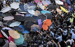 """美联社:香港的""""雨伞革命""""迅速扩展"""