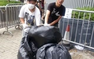 港学生公民质素感动市民 自发送物资声援抗争