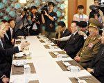 北韓代表團4日罕見會晤韓國高層。圖右二為現在北韓人民軍總政治局局長黃炳誓。(AFP)