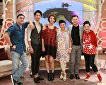 張世為宣傳首次執導的電影,帶領吳大維、林美秀、楊謹華和劉以豪到《SS小燕之夜》節目錄影。(中天提供)