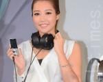 A-Lin為sony新系列耳機代言。(方惠萱 /大紀元)
