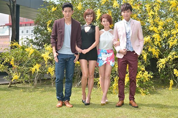 (左起)宥胜、孟耿如、郭书瑶、李国毅于10月7日日在台北出席新剧见面会。(三立提供)