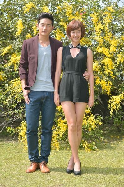 宥胜(左)与孟耿如首度搭档演出。(三立提供)