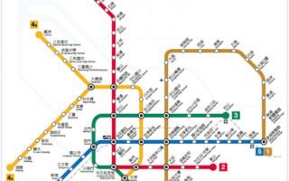 """台北捷运公司11日公布松山线通车后新版营运路线图,各路线名称分别为""""文湖线""""、""""淡水信义线""""、""""松山新店线""""、""""中和新芦线""""及""""板南线""""。(台北捷运公司提供)"""