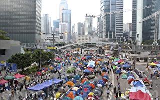组图:海报、雨伞倾诉港人心声