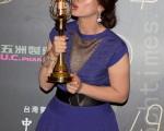 戲劇節目女配角獎:謝瓊煖/客家劇場—在河左岸(客家電視台)。(許基東/大紀元)