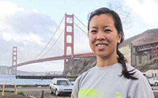 呼吁保护三文鱼 接力跑金门桥开跑