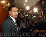 香港自由黨黨魁田北俊因促梁振英辭職,10月29日遭中共全國政協撤銷其政協委員資格,他隨即表示辭去黨魁一職,願以後以個人身份為港人發聲。(潘在殊/大紀元)