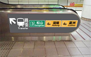 台北捷运公司30日表示,配合即将通车的松山线,各种指标需更新,将整合路线名称、路线编号、终站显示3大元素。(台北捷运公司提供)