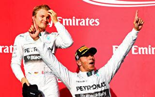 F1美國站:奔馳包攬前二 漢密爾頓五連冠