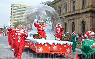 南半球最大圣诞花车游行在阿德雷德举行