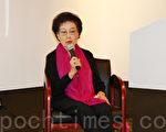 11月8日,世界华文作家协会荣誉副会长赵淑侠主讲《凄清纳兰》文学讲座。(王依澜/大纪元)
