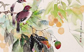 鸟啭(彩墨)46×50cm(图片来源:画家提供)