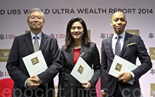 Wealth-X及瑞銀19日發表《2014年世界超級財富報告》。圖右為Wealth-X行政總裁林布期(Mykolas Rambus)。(余鋼/大紀元)