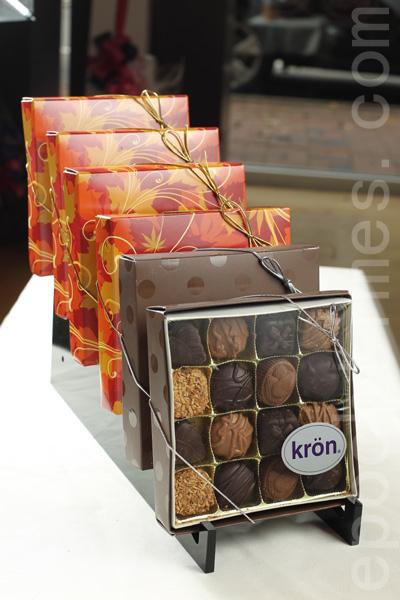 精致巧克力礼品。(张学慧/大纪元)