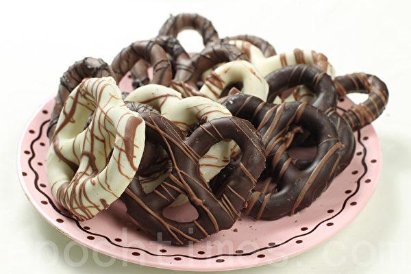 椒盐脆饼巧克力(Pretzels) (张学慧/大纪元)