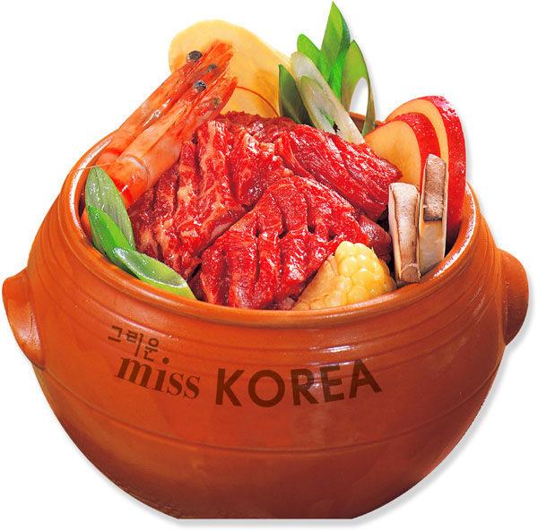 """用特制瓷器腌制的牛排是""""Miss Korea""""的一大特色。(商家提供)"""
