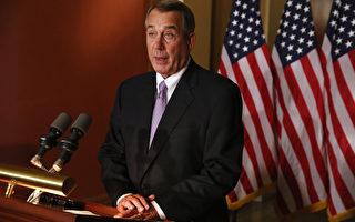 美众议院议长博纳11月21日宣布,奥巴马政府在执行健保法案时的两个决定涉违宪,为此众议院提出起诉。(Chip Somodevilla/Getty Images)