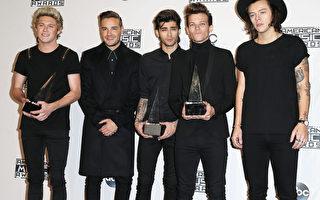 2014年11月23日,英國男團單向樂隊於第42屆全美音樂獎捧得三項大獎。(Frederick M. Brown/Getty Images)