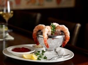 图:棕榈餐厅的开胃菜美味大虾(The Palm Restaurant 商家提供)