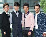 (左起)四位男主角修杰楷、谢佳见、李运庆与Duncan一起亮相。(三立提供)