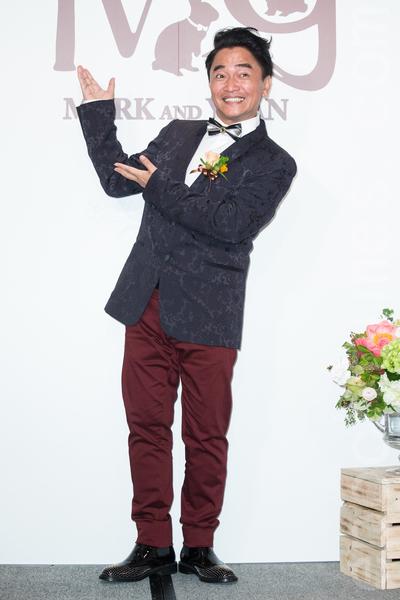 金钟影帝赵又廷和大陆女星高圆圆11月28日在台北举办婚礼,艺人吴宗宪出席祝贺。(陈柏州/大纪元)