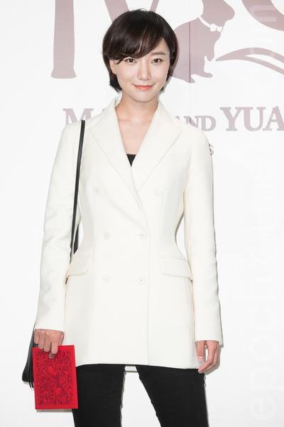 金钟影帝赵又廷和大陆女星高圆圆11月28日在台北举办婚礼,艺人王洛丹出席祝贺。(陈柏州/大纪元)