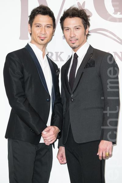 金钟影帝赵又廷和大陆女星高圆圆11月28日在台北举办婚礼,男子团体Soler出席祝贺。(陈柏州/大纪元)