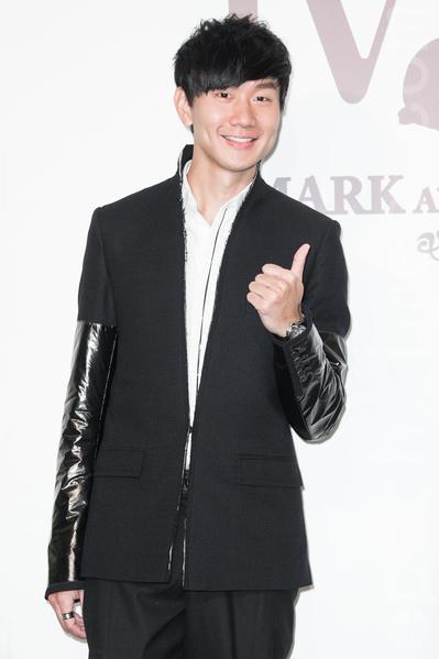 金钟影帝赵又廷和大陆女星高圆圆11月28日在台北举办婚礼,艺人林俊杰出席祝贺。(陈柏州/大纪元)