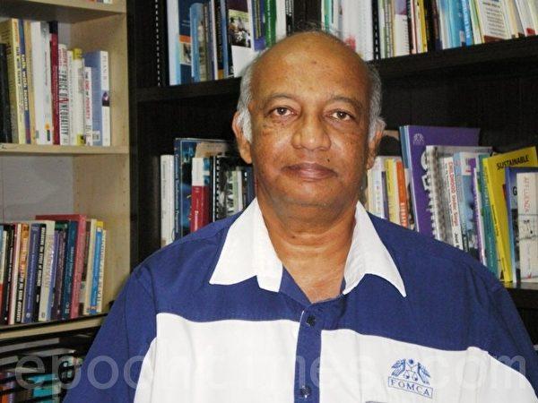 馬來西亞消費人聯合會(FOMCA)執行長兼秘書長拿督謝瓦拉說,外勞確實影響了本地的薪資制度,使到大部份體力勞動工作的薪資微薄。(大纪元資料室)