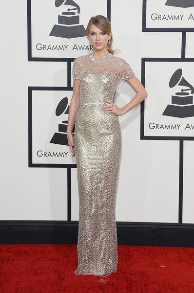 泰勒•斯威夫特出席2014年格莱美颁奖礼。(Jason Merritt/Getty Images)
