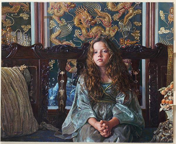美國畫家Sandra Kuck的畫作《伊馮娜》(Yvonne)獲得銀獎。(Sandra Kuck提供)