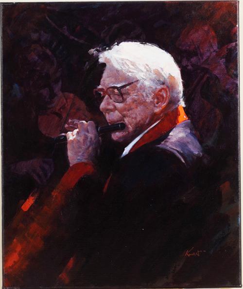 加拿大畫家Clement Kwan的畫作《演奏不止》獲得銅獎。(Clement Kwan提供)