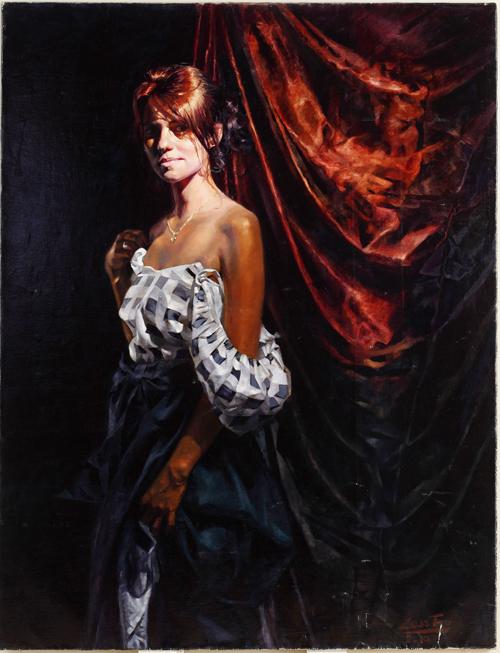 波蘭畫家Lesstro的畫作《愛葛妮絲》(Agnes)獲得銅獎。(Lesstro提供)