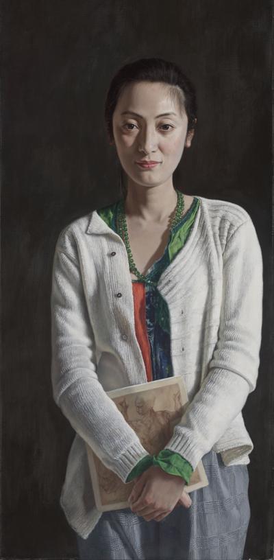 中國畫家新卯的畫作《白露》獲得傑出技法獎。(新卯提供)