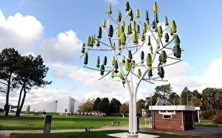 法国人发明风能树 可种在庭院中发电