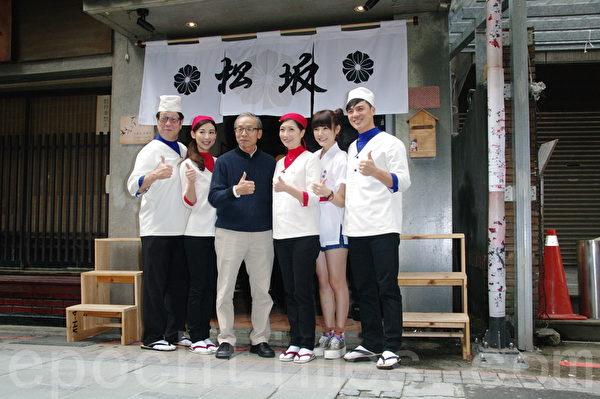 (左起)羅北安、大久保麻梨子、吳念真、黃嘉千、吳心緹、竇智孔出席開鏡記者會。(黃宗茂/大紀元)