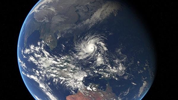12月5日,西太平洋上的黑格比颱風。這場風暴導致至少27菲律賓人喪生。(EUMETSAT/AFP)