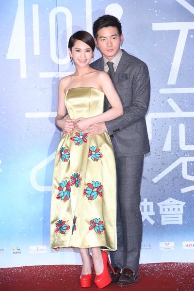杨丞琳与宥胜出席新片首映会。(香港甲上提供)