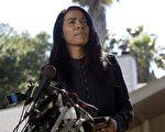 前白宮副發言人朱迪‧史密斯受僱協助索尼應對危機。圖為朱迪‧史密斯2002年資料照。(AFP PHOTO/John G. MABANGLO)