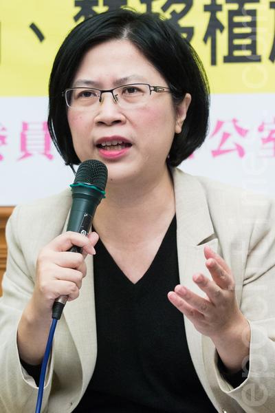 法轮功人权律师团发言人朱婉琪。(陈柏州 /大纪元)