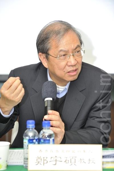 香港城市大学讲座教授、真普选联盟召集人郑宇硕。(罗瑞勋/大纪元)