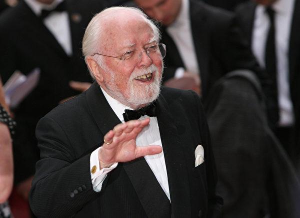 曾执导《甘地传》的英国资深导演、演员、制片人理查德‧阿滕伯勒于8月24日辞世,享年90岁。(Dan Kitwood/Getty Images)