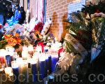 市民用烛光悼念殉职警员。(杜国辉/大纪元)