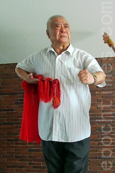"""有""""活关公""""之称的台湾京剧知名武生李桐春3月30日病逝,享寿87岁。(白亚仕/大纪元)"""