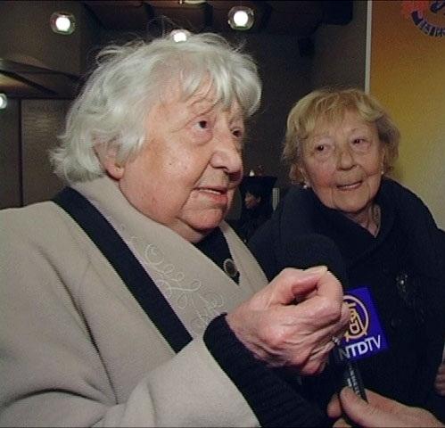 93岁高龄的芭蕾舞编舞大师、比利时弗拉芒皇家芭蕾舞团前舞蹈演员和舞编让娜‧布拉班特(左)于1月2日辞世。(尼克/大纪元)