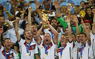 德國隊奪得巴西世界盃冠軍。(Clive Rose/Getty Images)