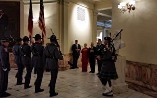 乔州153届议会开幕  州长迪尔室内宣誓